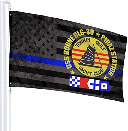 'N/A' USS Horne Dlg 30 Piraz Station Tonkin Golfo Yacht Club Bandera 3' X 5' Ft Banner Brisa Bandera al aire libre Banderas de jardín Bandera