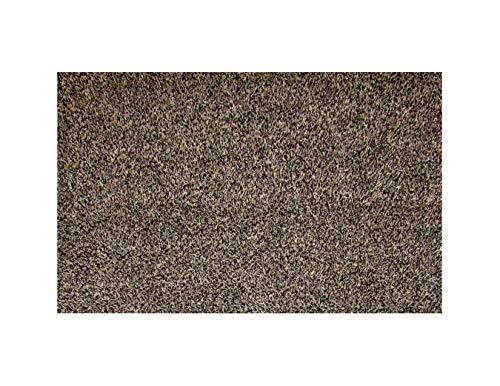 One Step Mud Mat Original Made in England (Large Brown) 31W x 47L Indoor Floor Mat with Non-Slip Backing Traps Mud and Dirt Perfect for Pets Excellent for High Traffic Areas.