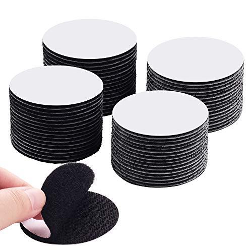 LLPT Cinta de velcro almohadilla autoadhesiva de diámetro redondo de 60 mm para sujetar bucles de gancho para la decoración del hogar, la oficina, la escuela al aire libre (RSB320)