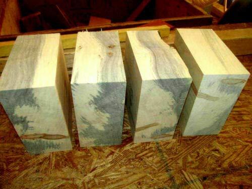 "ZCH NIFER Supplies for Four BOXELDER Bowl Blanks Lathe Turning Blocks Wood Lumber Carve 6"" X 6"" X 3"""