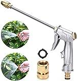 Garden Hose Nozzle, Heavy Duty Metal Spray Gun, 360° Rotaing Water Adjustmen High