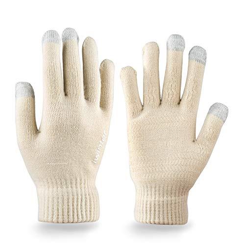 Touchscreen Handschuhe, SebPuSi Handschuhe Herren Touchscreen Sporthandschuhe für Radfahren Motorradfahren Wandern Outdoor Aktivitäte Warme Anti-Rutsch handschuhe für Damen und Herren