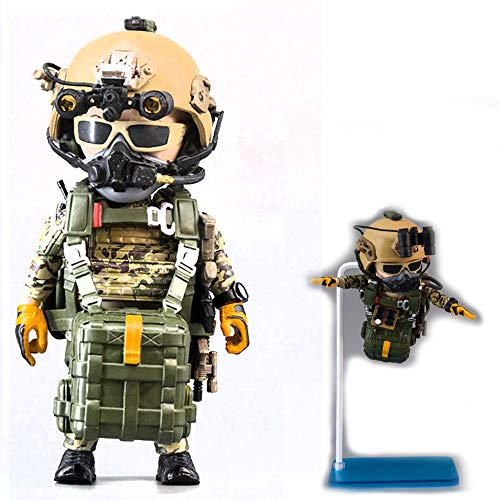 Seal Team 6 Division | Tricky Man Army Special Forces Halo Jumper | Militär Figur Paintball Softair Military | Spezialeinheiten Army Spielfigur | 12 cm groß Special Forces Seal Team 6
