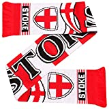 Stoke City - Bufanda para aficionados al fútbol (100% acrílico)