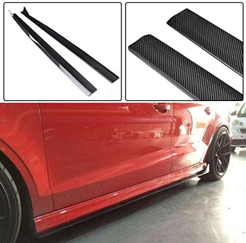 NB-LY Adatto per minigonne Laterali A3 Sline S3 RS3 CF, Adatto per berline Audi A3 Sline S3 RS3 2014-2019 con Estensione in Fibra di Carbonio