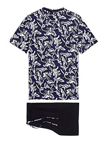 HOM Herren Short Sleepwear 'Catalan' - Navy Print - L
