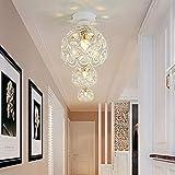 ALLOMN Lámpara de Techo Moderna, 2PCS Lámpara de Techo de Cristal, Dormitorio, Pasillo Sala de Estar, Lámpara de Techo, E27 Diámetro del Enchufe: 20 cm (Bombilla no Incluida)