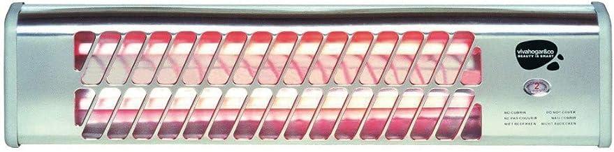 ESTUFA ELECTRICA VIVAHOGAR BAÑO CUARZO 2 BARRAS 600/1200W VH77781