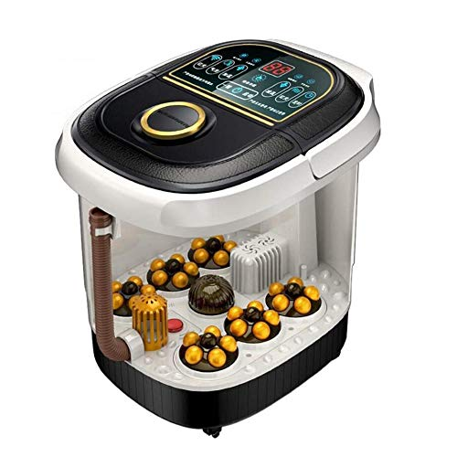 Best Bargain DXFK.AM Foot Spa Heated Massaging with Pedicure Function Comes with Medicine Box, Hydro...