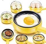 Cocedor de Huevos,Mini Tortilla de Huevo Multifuncional para el hogar...