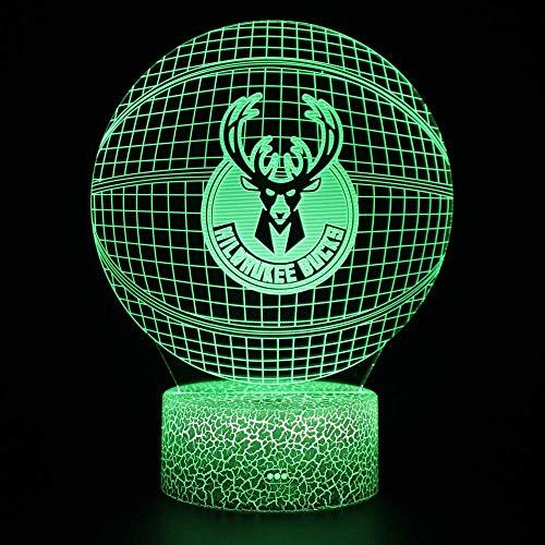 Chico de fútbol, Mesa de decoración LED 3D, luz Nocturna, Carga USB, batería, Motocicleta, Coche, Mesa de Escritorio, lámpara de 7 Colores, Regalo para Amigos