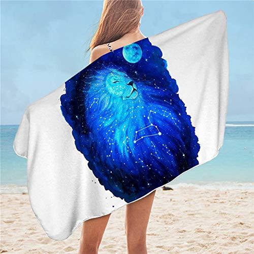 NDLENG por Wassermann Pixie fría Arte Microfibra Toalla de Playa de la Sirena del Zodiaco Toalla de baño Loewe Stern 75cmx150cm