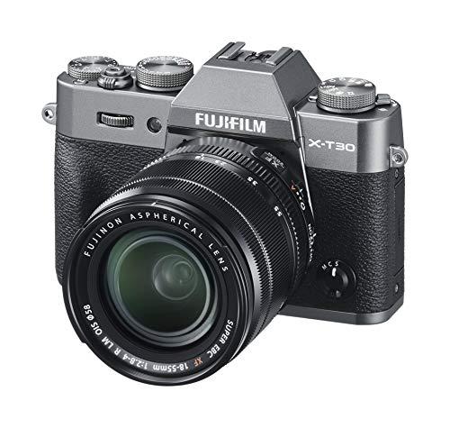 """Fujifilm X-T30 Kit e Obiettivo XF18-55 mm F2.8-4 R LM OIS, Fotocamera Digitale da 26 MP, Sensore CMOS X-Trans 4 APS-C, Mirino EVF, Filmati 4K 30p, Schermo LCD Touch 3"""" Orientabile, Antracite"""