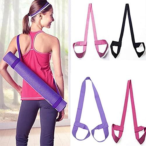 4 cinturones de esterilla de yoga ajustables, adecuados para hombros, pilates, yoga, deportes, aeróbicos, fitness al aire libre y cinturones de esterilla de ejercicio