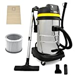 MAXBLAST Industrial Wet & Dry Vacuum <span class='highlight'>Clean</span>er & Attachments, Powerful 1400W, 50 Litre, Stainess Steel