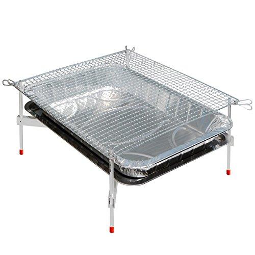 超軽量バーベキューグリルコンロ『洗うものがないんです』BBQ-XM(Mサイズ)組み立て簡単卓上型バーベキューセット