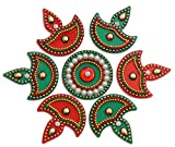 iKreation Acrylic Rangoli (Red Green)