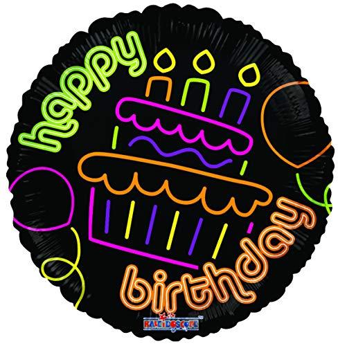 Suki Gifts S9019597 Ballon de félicitation Happy Birthday Noir
