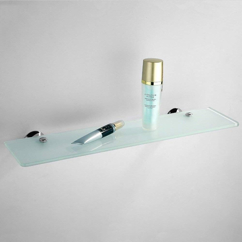 TouchchuangTech Bathroom Glass Shelf Bathroom Hardware Pendant Single - Layer Glass Shelf Bathroom Mirror Dresser Mirror Before The Shelf Bathroom Holder (color   D)