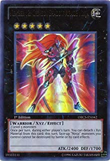 Yu-Gi-Oh! - Number 12: Crimson Shadow Armor Ninja ORCS-EN042 Ultra Rare - Zexal Order Of Chaos
