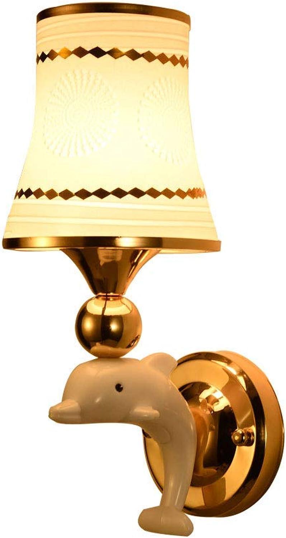 Mariisay Hotel Schlafzimmer Nachtwand Wandleuchte Modernen Hause Einzigen Doppelkopf Korridor Gang Leuchtet Led Einfache Kristall Wandleuchte (Farbe   Bd-8805-13  31Cm)