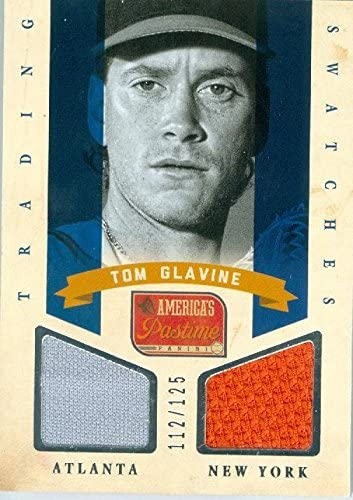 Autograph Warehouse 343505 Tom Glavine Player Worn Jersey Patch Baseball Card New York Mets44 product image