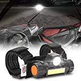 Kemimoto UTV Dome Light Universal Removable Roll Bar Mount LED Light Compatible with Polaris RZR Can Am Kawasaki Golf Cart Boat Work for 1.5- 2.0' roll bar cage Interior Lights