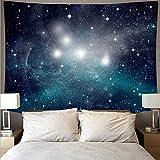 KHKJ Espectacular Espacio Galaxia Tela de Pared Gran Arte Tapiz psicodélico Colgante de Pared Toalla de Playa Manta Yoga A1 150x130 cm
