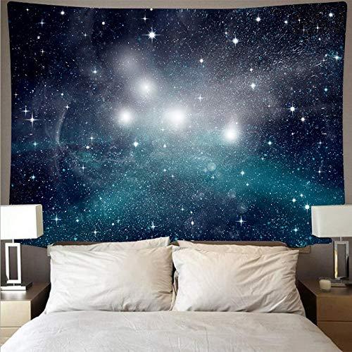 KHKJ Espectacular Espacio Galaxia Tela de Pared Gran Arte Tapiz psicodélico Colgante de Pared Toalla de Playa Manta Yoga A1 200x150 cm