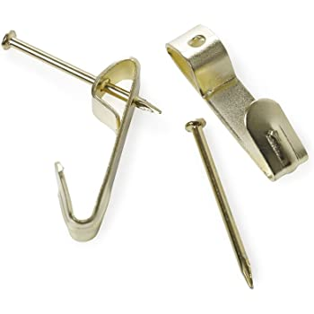 Electro Brassed Single Picture Hook with Pin - Small (Pack of 20):  Amazon.co.uk: DIY & Tools