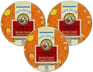 Nin Jiom Herbal Candy- 3 Tins (Tangerine-Lemon)