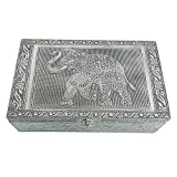 HAB & GUT -BOX017- Boîte á Bijoux en Aluminium, l'élépha
