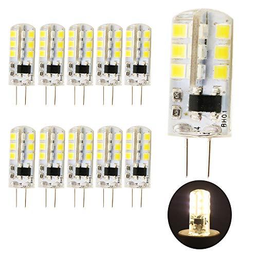 10 Stück G4 LED Leuchtmittel Warmweiß 3W 260lm Ersatz für 25W Halogenlampen 220V AC, 3000K, 360 Grad, led Stiftsockellampe kleine Glühlampe Leuchtmittel SMD 2835 Leds Licht Nicht Dimmbar