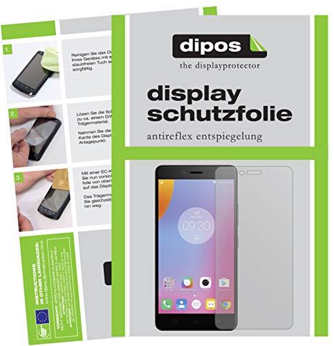dipos I 2X Schutzfolie matt kompatibel mit Lenovo K6 Folie Bildschirmschutzfolie