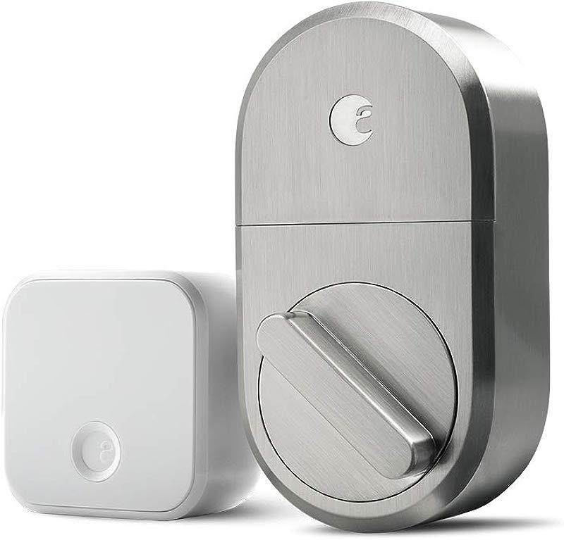 August Smart Lock Connect Satin Nickel