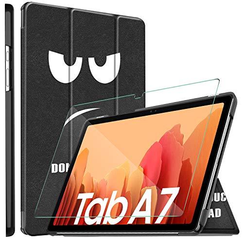 ELTD Hulle mit Displayfolie fur Samsung Galaxy Tab A7 Flip PU Leder Schutzhulle mit Glas Displaysfolie fur Samsung Galaxy Tab A7 2020 104 Zoll CH 03