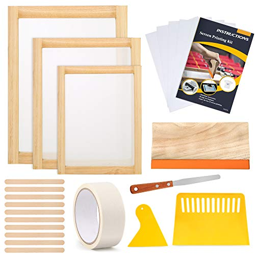 Caydo 23 Pieces Screen Printing Starter kit Include 3 Different