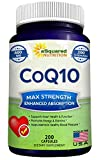 Best Coq10 Supplements - Pure CoQ10 (400mg Max Strength, 200 Capsules) Review