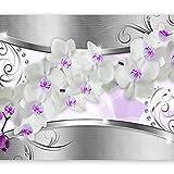 murando Fotomurales Orquidea 350x256 cm XXL Papel pintado tejido no tejido Decoración de Pared decorativos Murales moderna Diseno Fotográfico flores abstracto b-a-0111-a-d