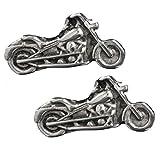 Hot Leathers Women's Motorcycle Post Earrings (Silver, Size 1')