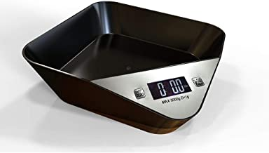 Digital Kitchen Electronic Scales, Pet Scales, Pets, 5kg Bowls, Kitchen Scales, Kitchen Scales, Food Scales, Baking Scales for Families, Kitchens LWWOZL (Color : Black)