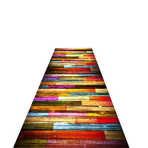 CucuBan Läufer Flur Korridor Teppich Startseite Teppich Schritt Mats Treppe Teppich Teppiche Flur Läufer Lange Matte Home Wohnzimmer Dekor,Farbstreifen,Breite 0.5m X Länge 6m