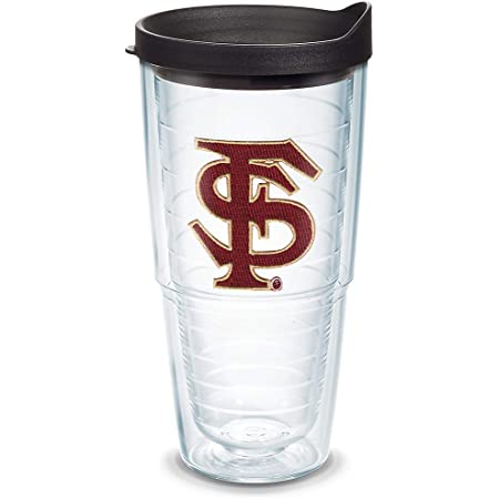 Amazon Com Tervis Florida State Seminoles Tumbler With Emblem And Black Lid 24oz Clear Sports Fan Coffee Mugs Tumblers Water Glasses