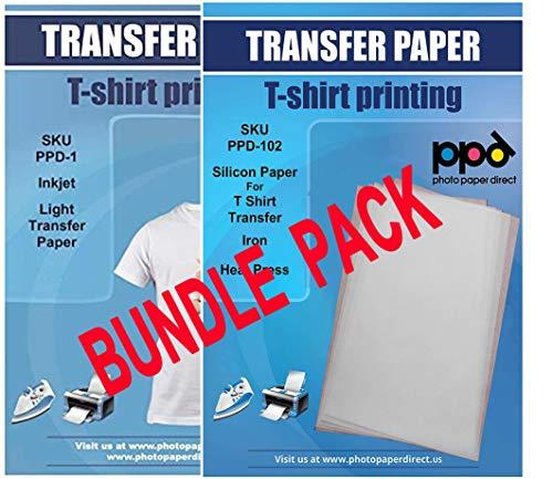 PPD Inkjet Bundle Iron-On Light Color T Shirt Transfers Paper