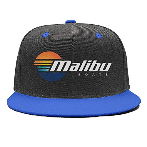 Fashion Cap Adjustable Malibu-Boats-Vector-Logo-Simple- Blue Classic Baseball Hat
