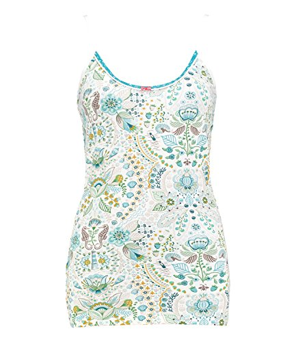 PiP Studio Damen Top Sleeveless Pyjama Oberteil Spaghettiträger Trägertop Tom Sea Stitch 260560, Farbe:Blau;Wäschegröße:S;Artikel:260560 Blue