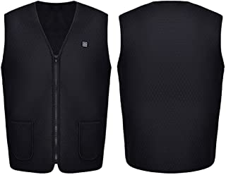 ZLYPSW Unisex Outdoor USB Heating Vest Jacket Winter Flexible Electric Thermal Clothing Waistcoat Fishing Hiking (Color : ...
