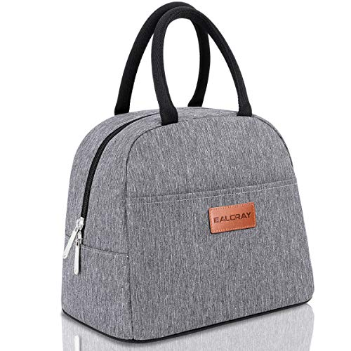 BALORAY Lunch Bag Tote Bag Lunch Bag for Women Lunch Box Insulated Lunch Container (Grey)