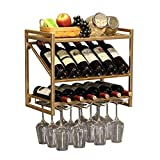 ZKAIAI Retro Moderno Estilo Estantería for almacenar el Vino, Estante del Vino Botellero Europea/Colgar de la Pared/de la Sala de Pared Creativo Europea Restaurante Bar de Estante del Vino de Cris