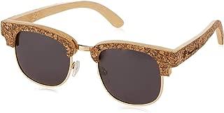 Unisex Cork Sunglasses Polarized Black Lenses